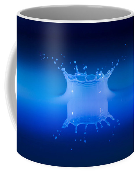 Impact Coffee Mug featuring the photograph Aqua Blue by Nick Field