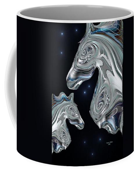 Arabian Coffee Mug featuring the digital art Arabian Nights by Maria Urso