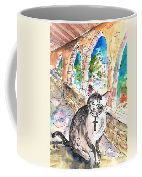 Travel Sketch Coffee Mug featuring the painting Arch Bishop Of Caterbury by Miki De Goodaboom