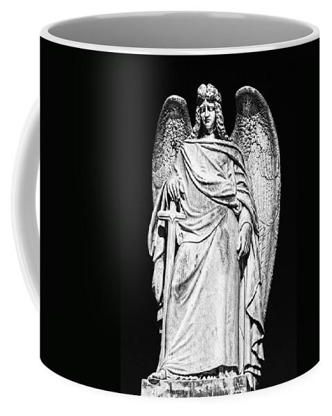 Angel Coffee Mug featuring the photograph Archangel By Night by Georgiana Romanovna