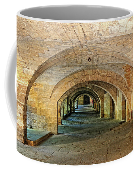 Arch Coffee Mug featuring the photograph Arched Walkway In Provence by Dave Mills