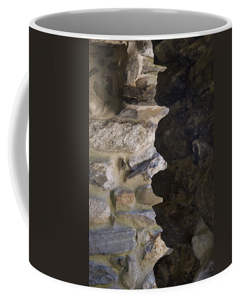 Gillette Castle State Park Coffee Mug featuring the photograph Architectural Detail Of Stone Work by Todd Gipstein