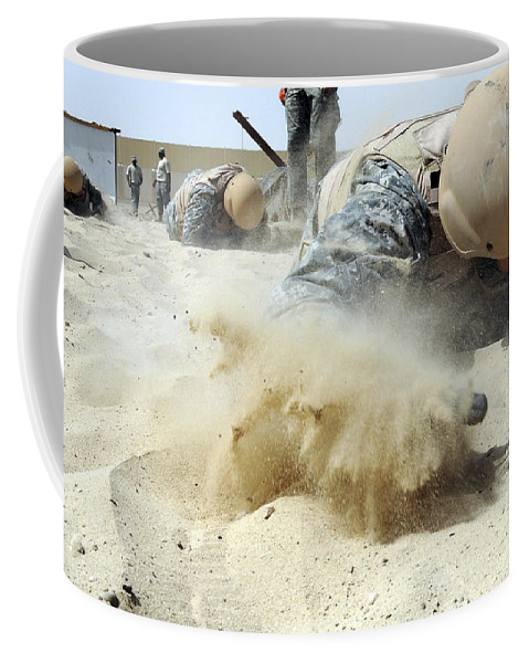 Stamina Coffee Mug featuring the photograph Army Soldier Pulls Himself by Stocktrek Images