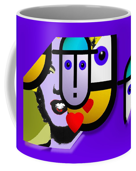 Marilyn Coffee Mug featuring the painting Art Lover by Charles Stuart