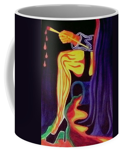 Artist Coffee Mug featuring the painting Artist by Carolyn LeGrand