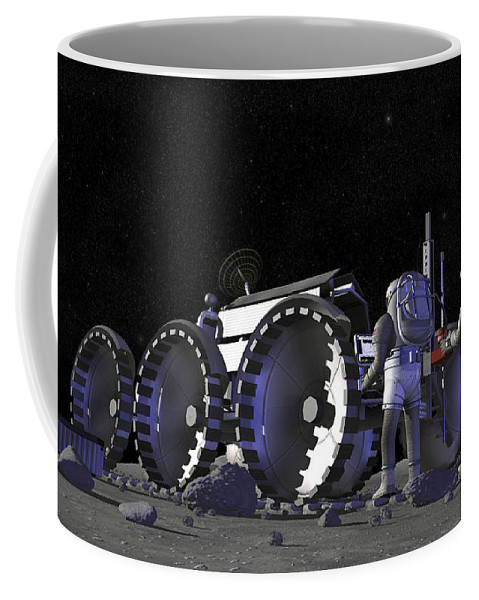 Activity Coffee Mug featuring the digital art Artists Rendering Of Future Space by Stocktrek Images