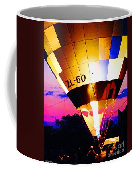 Balloon Coffee Mug featuring the digital art Ascension Zl 60 by Lizi Beard-Ward