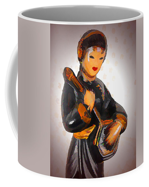Asian Coffee Mug featuring the photograph Asian Beauty Minstrel by Kathy Clark