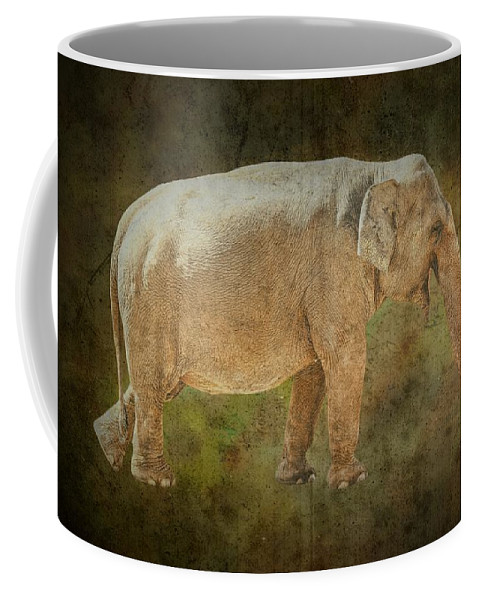 Isolated Coffee Mug featuring the photograph Asian Elephant by Rudy Umans