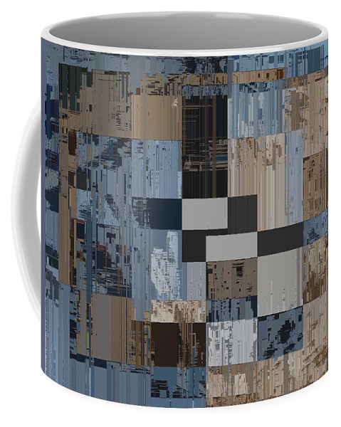 Abstract Coffee Mug featuring the digital art Aspiration Cubed 1 by Tim Allen