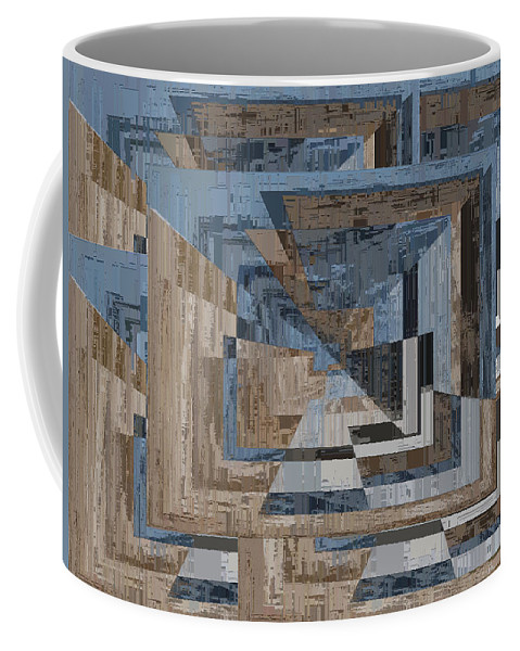 Abstract Coffee Mug featuring the digital art Aspiration Cubed 3 by Tim Allen