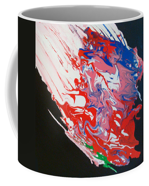 Coffee Mug featuring the painting Asteroid Descending by Ronald Brischetto