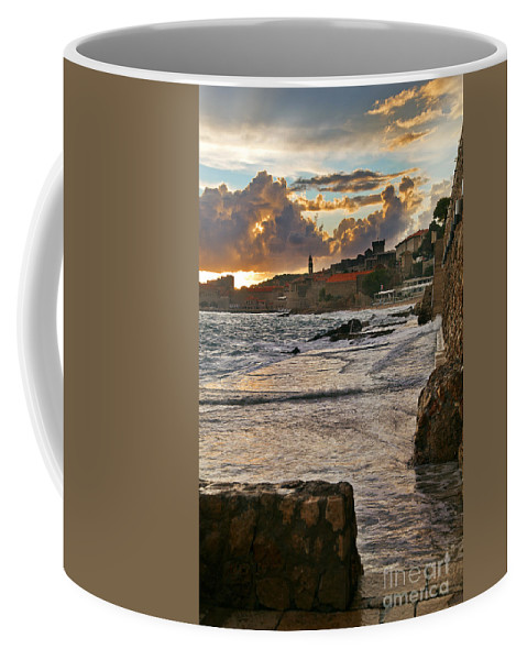 Seascape Coffee Mug featuring the photograph At The Edge Of The World by Madeline Ellis