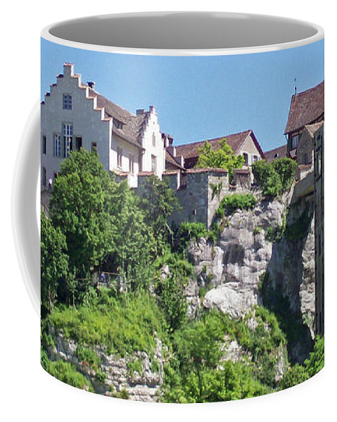 Swiss Coffee Mug featuring the photograph At The Rhine Falls by Greg Plamp