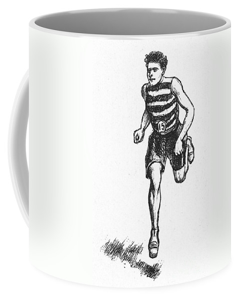 1900 Coffee Mug featuring the photograph Athletics: Runner, C1900 by Granger