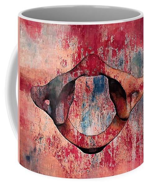 Chiropractic Coffee Mug featuring the digital art Atlas Anatomy Art 20 by Joseph Ventura