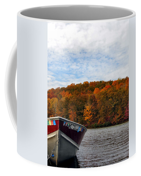 Fall Coffee Mug featuring the photograph Autumn Fishing by Art Dingo