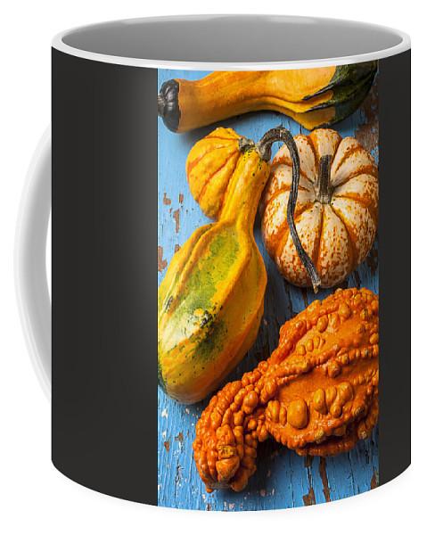 Autumn Gourd Coffee Mug featuring the photograph Autumn Gourds Still Life by Garry Gay