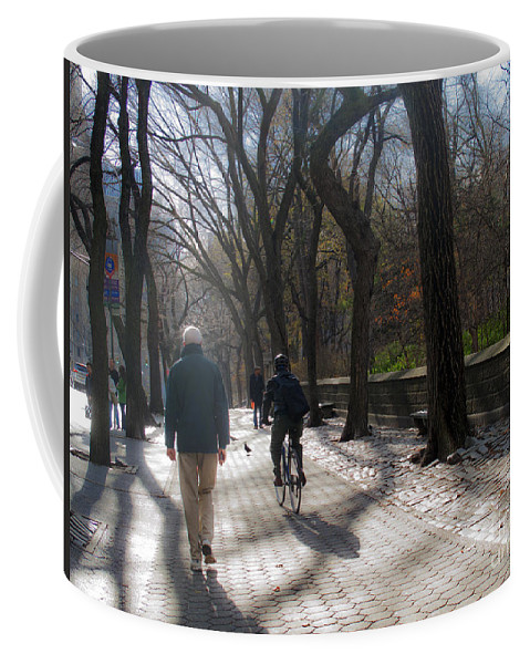 Central Park Coffee Mug featuring the photograph Autumn In New York 1 by Madeline Ellis