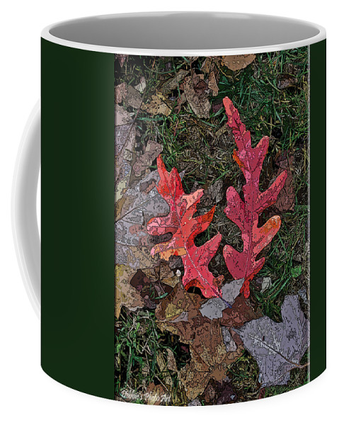 Nature Coffee Mug featuring the photograph Autumn Leaf Art IIi by Debbie Portwood