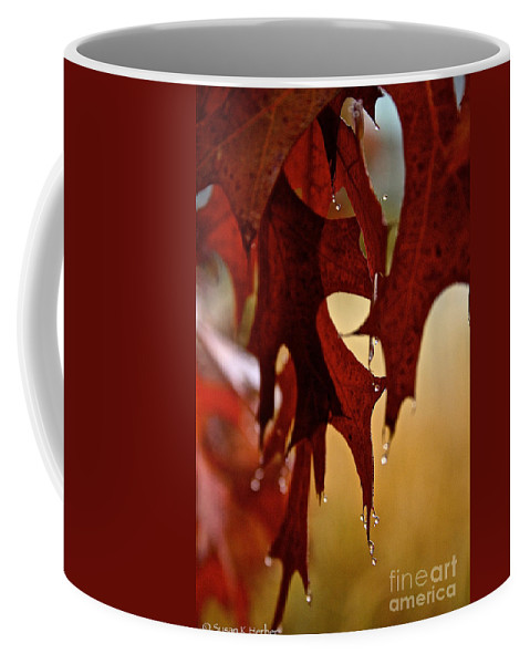 Outdoors Coffee Mug featuring the photograph Autumn Oak Showers by Susan Herber
