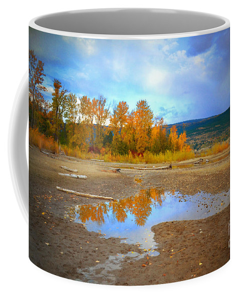 Autumn Coffee Mug featuring the photograph Autumn Puddles by Tara Turner