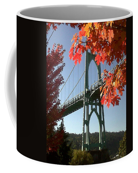 Oregon Coffee Mug featuring the photograph Autumn by Quin Sweetman