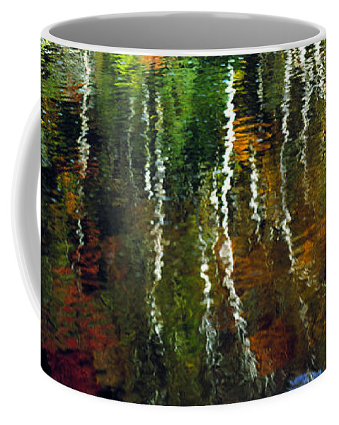 Autumn Coffee Mug featuring the photograph Autumn Reflections 1 by Mike Nellums
