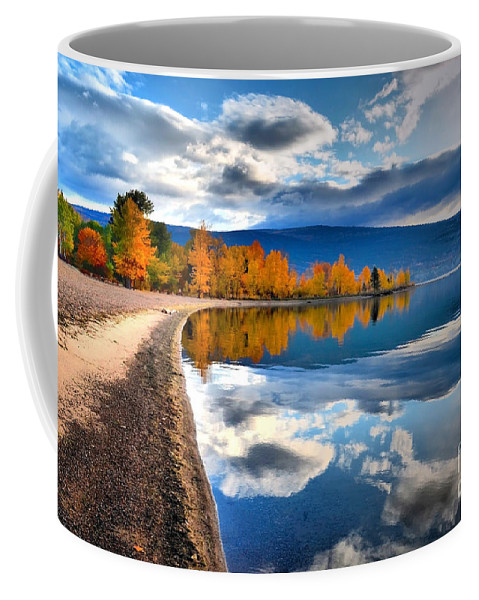 Autumn Coffee Mug featuring the photograph Autumn Reflections In October by Tara Turner