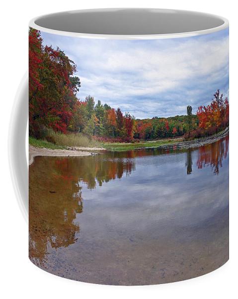Autumn Coffee Mug featuring the photograph Autumn Shoreline by David Rucker