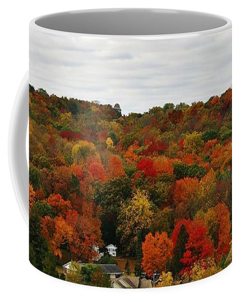 Landscape Coffee Mug featuring the photograph Autumn Spectacular by Bruce Bley