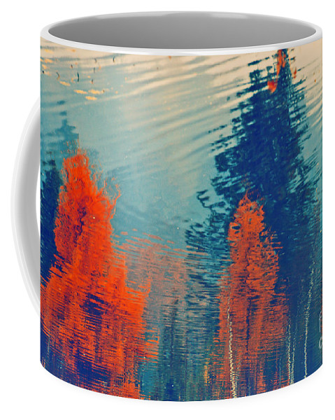 Trees Coffee Mug featuring the photograph Autumn Vision by Aimelle