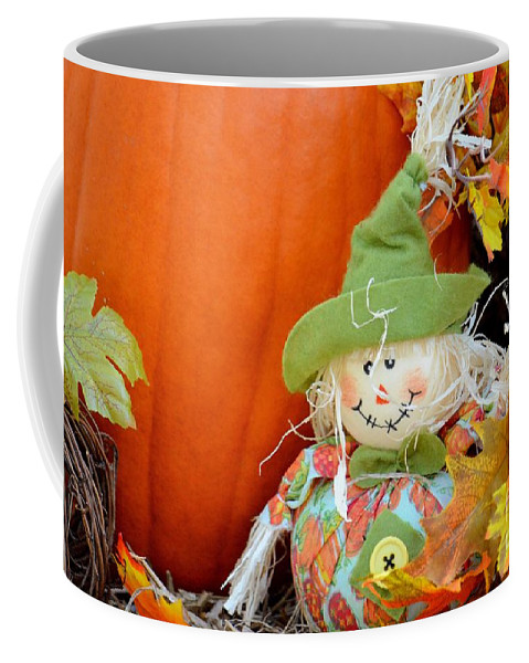 Baby Coffee Mug featuring the photograph Baby Scarecrow by Maria Urso