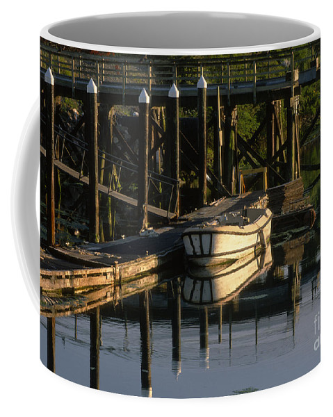 Sandi Bronstein Coffee Mug featuring the photograph Back At The Harbor by Sandra Bronstein