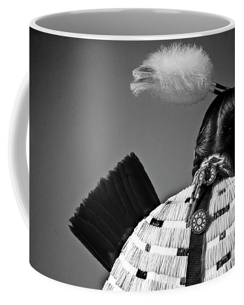 Indian Coffee Mug featuring the photograph Back Feather by Diego Re