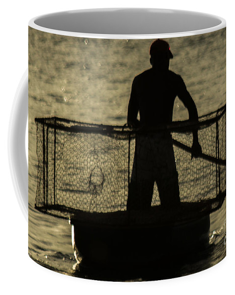 Fisherman Coffee Mug featuring the photograph Working Hard For A Living by Rene Triay Photography