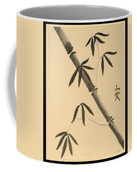 Bamboo Art Coffee Mug featuring the photograph Bamboo Art In Sepia by Rob Hans