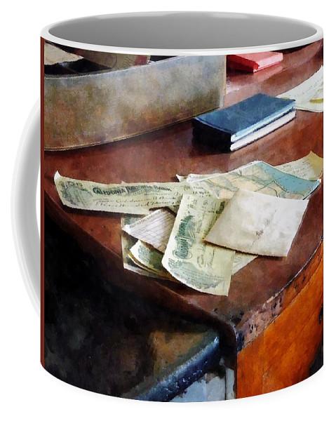 Check Coffee Mug featuring the photograph Bank Checks Dated 1923 by Susan Savad