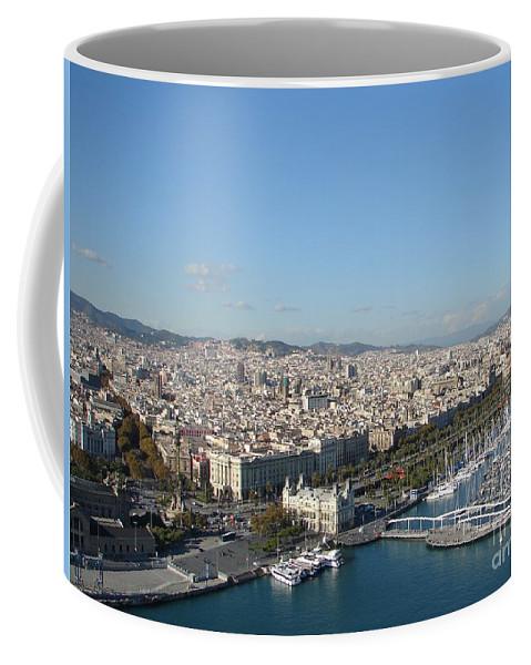 Barcelona Coffee Mug featuring the photograph Barcelona View 2 by Ana Maria Edulescu