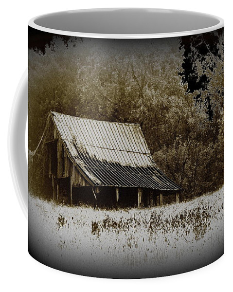 Barn Coffee Mug featuring the photograph Barn In The Field by Travis Truelove