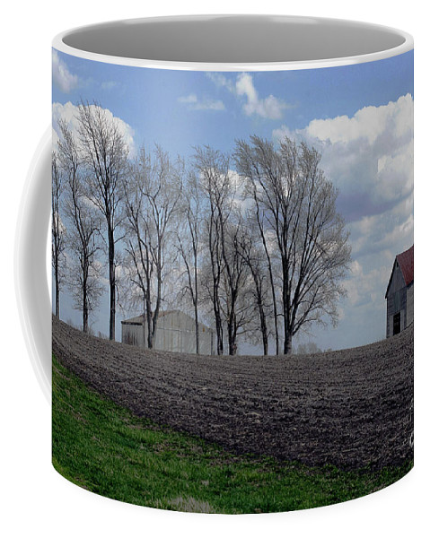 Abandoned Coffee Mug featuring the photograph Barn Lot 1 by Alan Look