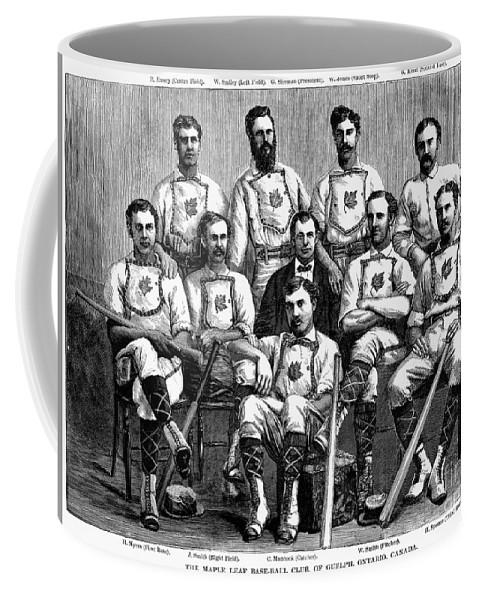 1874 Coffee Mug featuring the photograph Baseball: Canada, 1874 by Granger