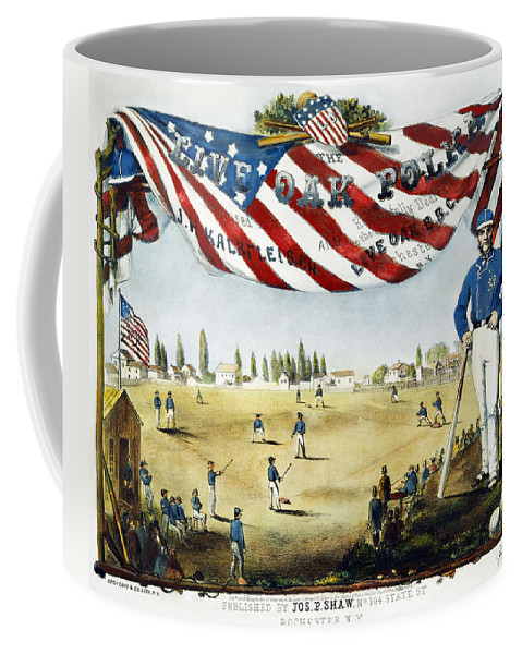 1860 Coffee Mug featuring the photograph Baseball Song Sheet, 1860 by Granger