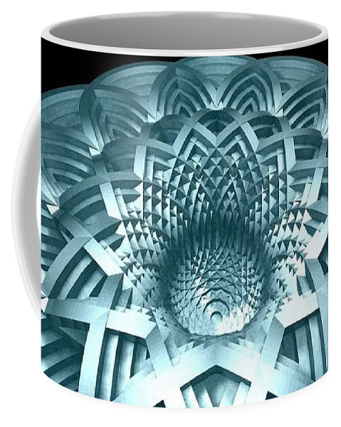 Hyperbola Coffee Mug featuring the digital art Basket Of Hyperbolae 02 by David Voutsinas