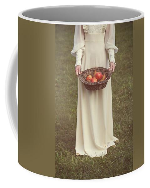 Woman Coffee Mug featuring the photograph Basket With Fruits by Joana Kruse
