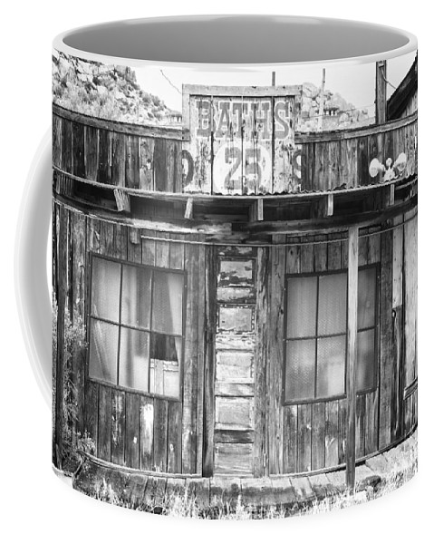 Baths Coffee Mug featuring the photograph Baths Twenty Five Cents Bw by James BO Insogna
