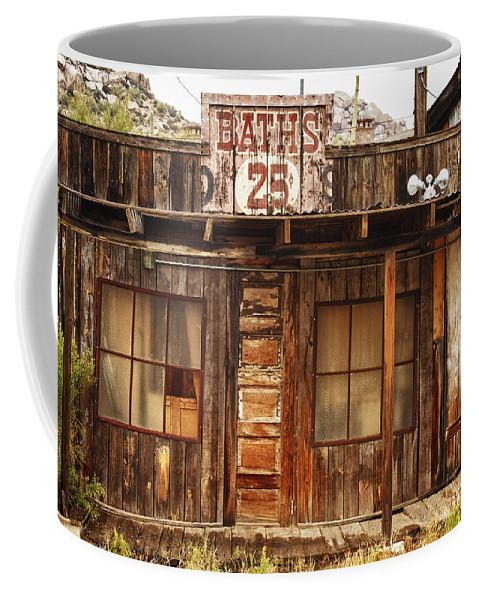 Baths Coffee Mug featuring the photograph Baths Twenty Five Cents by James BO Insogna