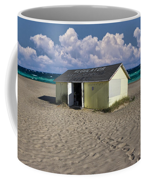 Art Coffee Mug featuring the photograph Beach House Along The Shore by Randall Nyhof
