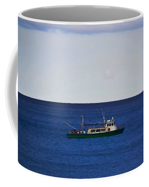 Ocean Coffee Mug featuring the photograph Beautiful Day For Shrimping by DigiArt Diaries by Vicky B Fuller