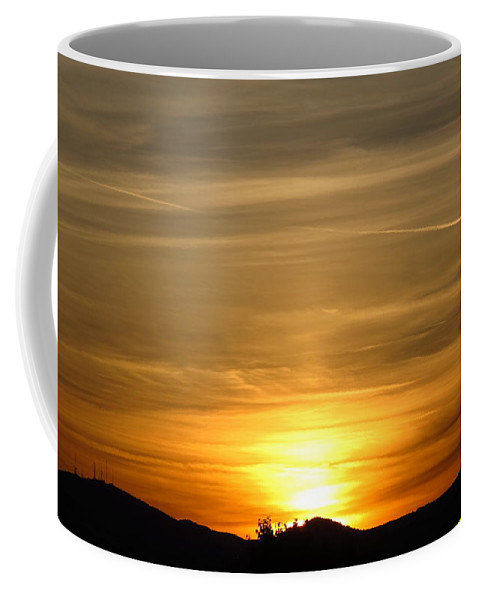 Sunset Coffee Mug featuring the photograph Beautiful Sunset 6. 2012 by Phyllis Kaltenbach